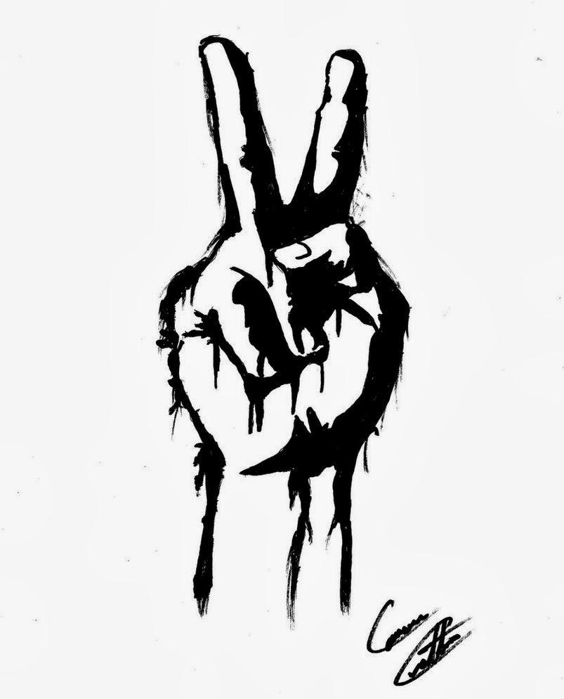 Drawn peace sign graffiti Clipart Images Hand Panda Peace