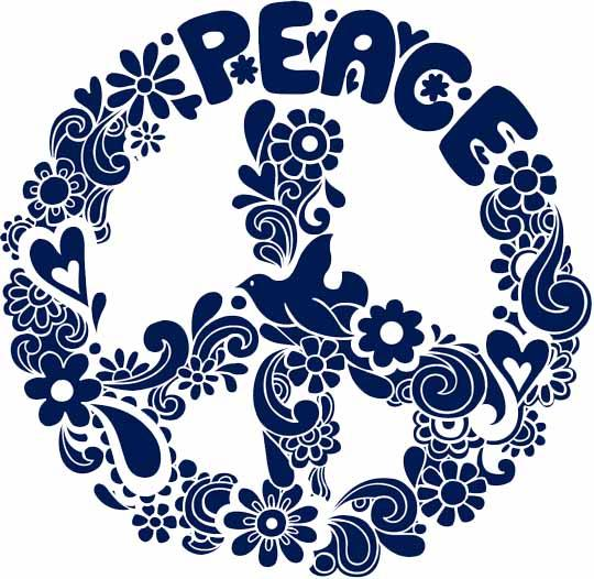 Drawn peace sign groovy Detail Lime for Major Designs