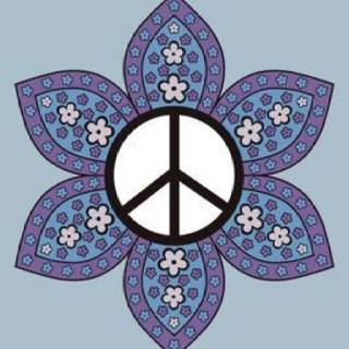 Drawn peace sign groovy  this & to Peace