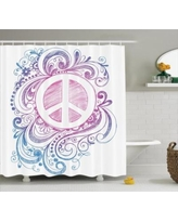 Drawn peace sign groovy  Decorations Peace Swirls on