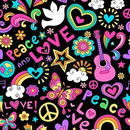 Drawn peace sign groovy Love Design 213 SIGNS Drawn