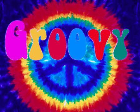 Drawn peace sign groovy Dye color peace 70s dye