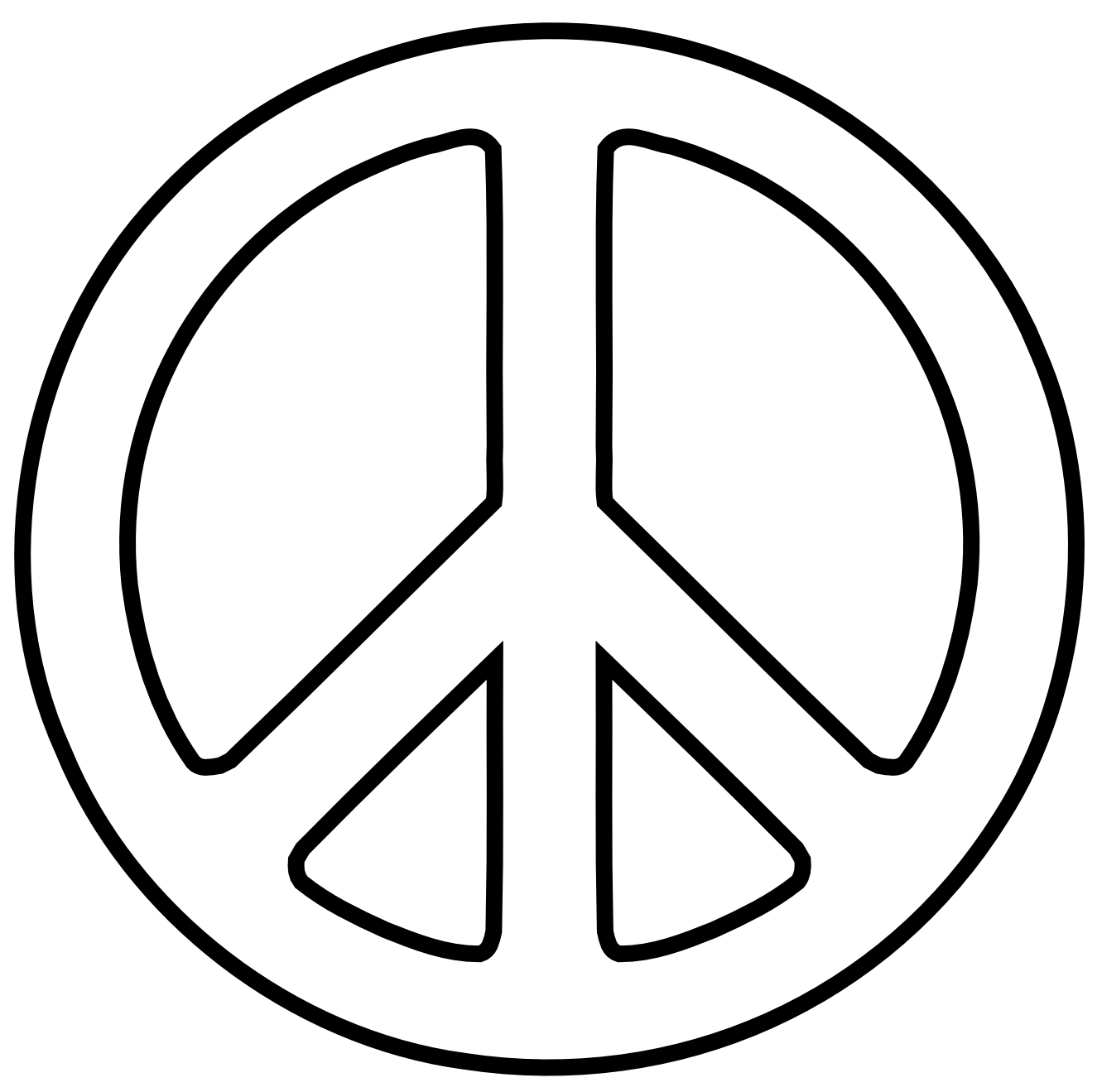 Peace clipart peaceful Sign Art Sign clip Free