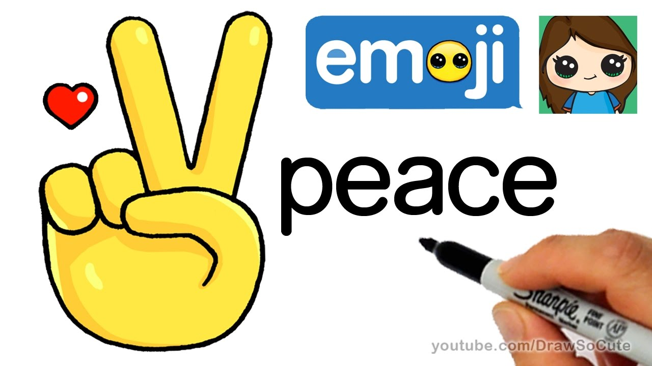 Drawn peace sign hand clipart YouTube How Emoji How Draw