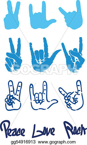 Drawn peace sign hand clipart Logo love hand rock rock