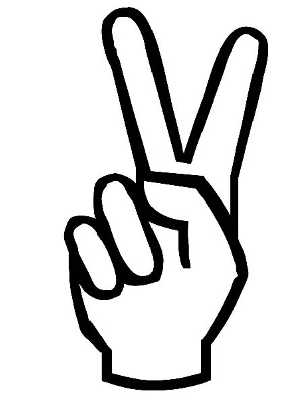 Drawn peace sign hand clipart Clip Art Art Coloring on