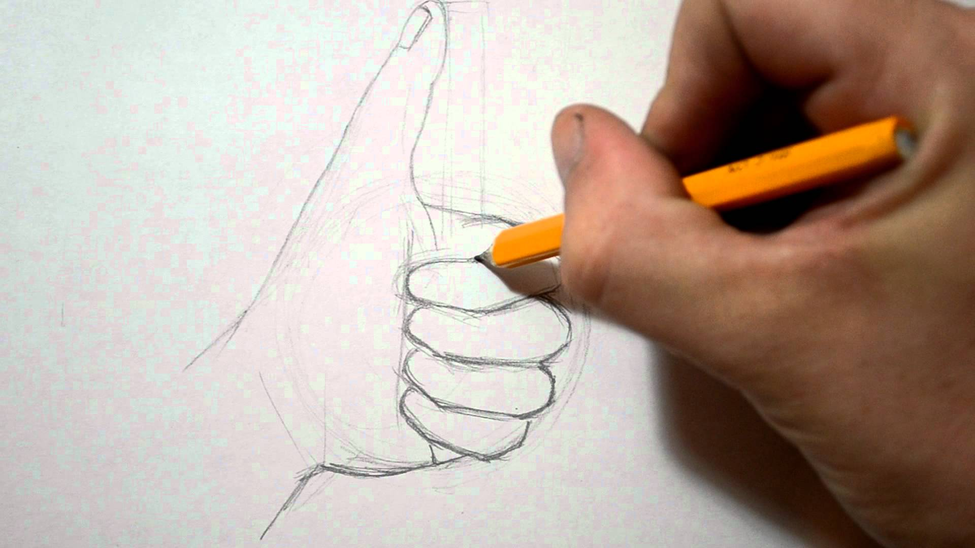Drawn peace sign hand drawing How YouTube Up Thumbs Hand
