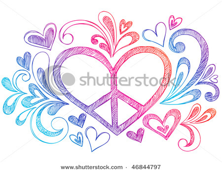 Drawn peace sign hand drawing Sign Drawn Hand image and