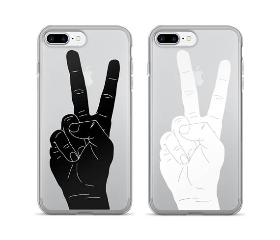 Drawn peace sign hand transparent Phone Case Case Sign Sign