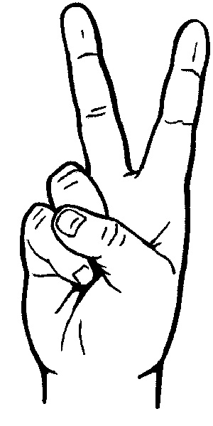 Hand Gesture clipart peace sign finger Peace Clipground Clipart#2151581 Love Signs