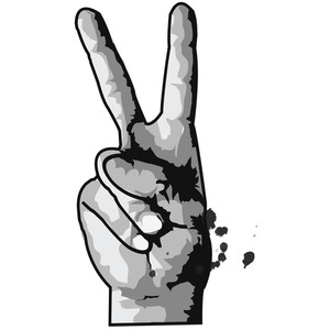 Drawn peace sign hand transparent Sign hands Print sign hands