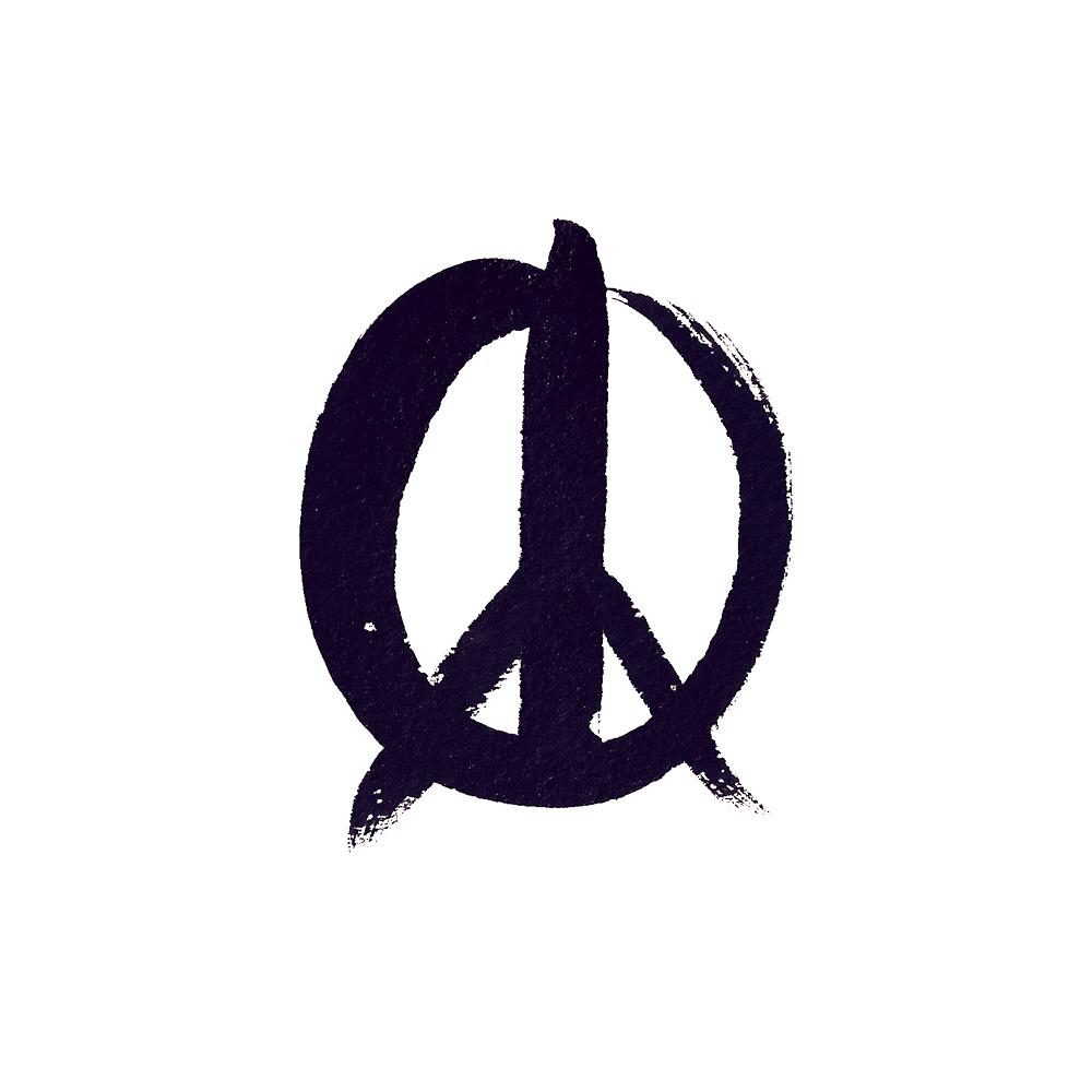 Drawn peace sign logo Neverland  Symbol