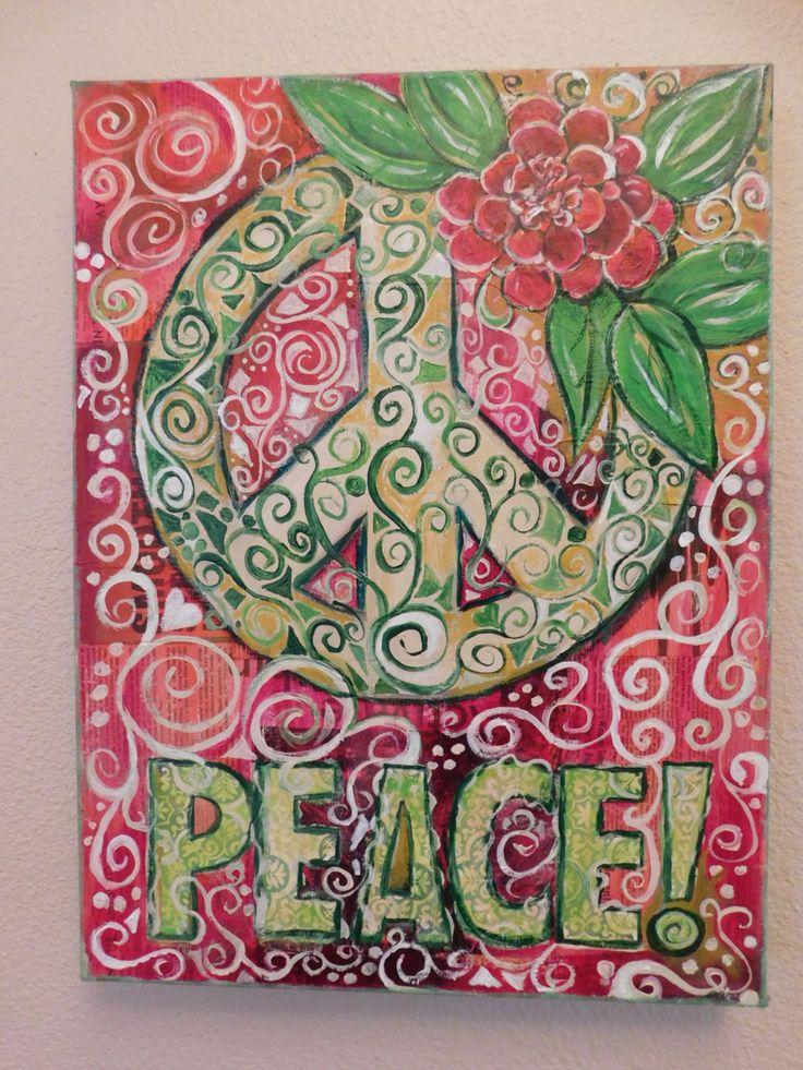 Drawn peace sign original Peace Bohemian Pinterest painting 25+