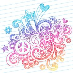 Drawn peace sign original Sign Doodle Drawn Sign Flowers