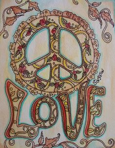 Drawn peace sign original Art Signs on Peace DOC