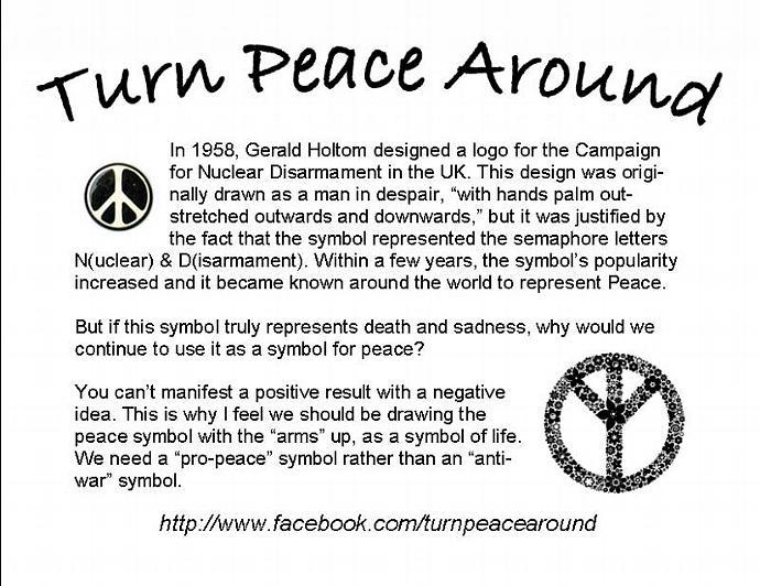 Drawn peace sign original Small charm TPA charm Small