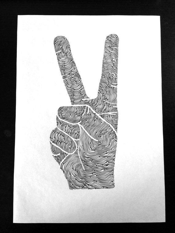 Drawn peace sign original Download Original digital Sign Sign