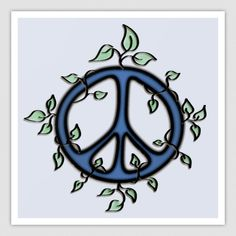 Drawn peace sign original Simboli art Vines Designs Pinterest