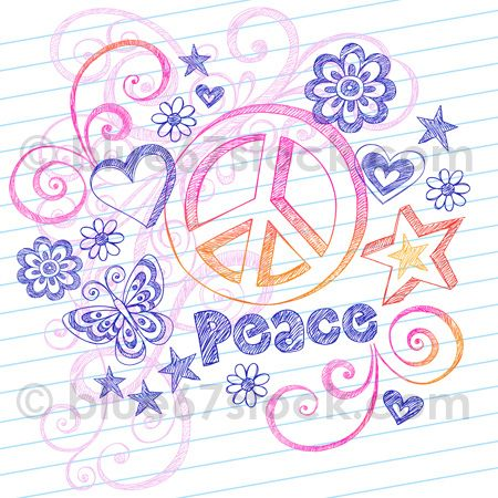 Drawn peace sign peace and love And 42 Drawn Doodles on