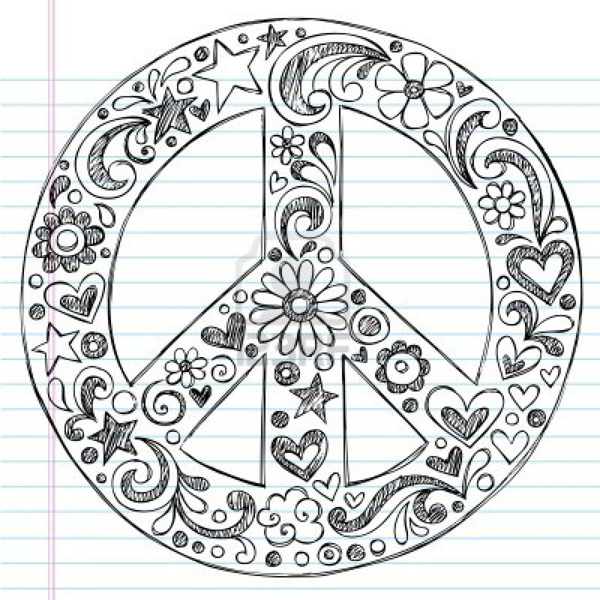 Drawn peace sign peace and love  peace on Sign sign