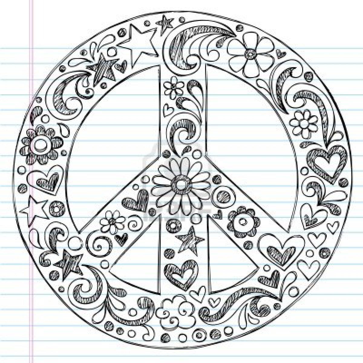 Drawn amd peace Hand love Hand  Printable