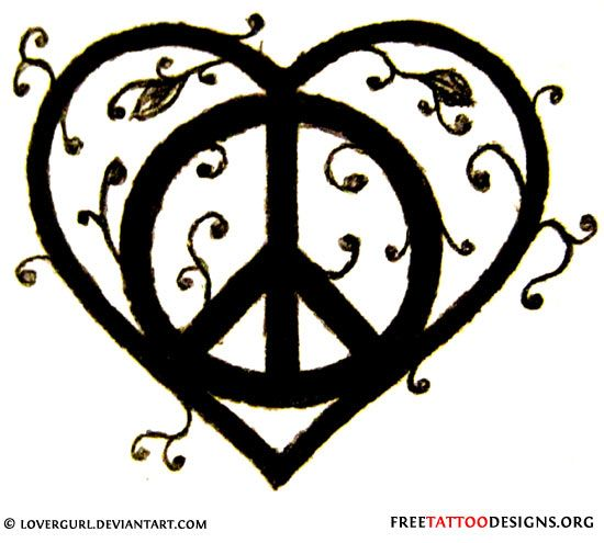 Drawn peace sign peace and love On sign this It on