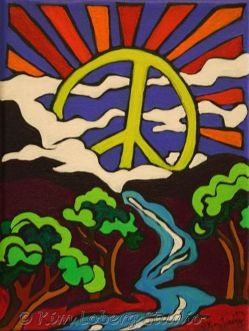 Drawn peace sign peace and love ~ signs Hippie Sign Valley