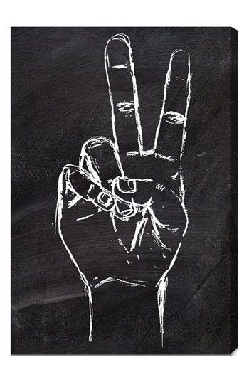 Drawn peace sign peace out Will Art on hand Best