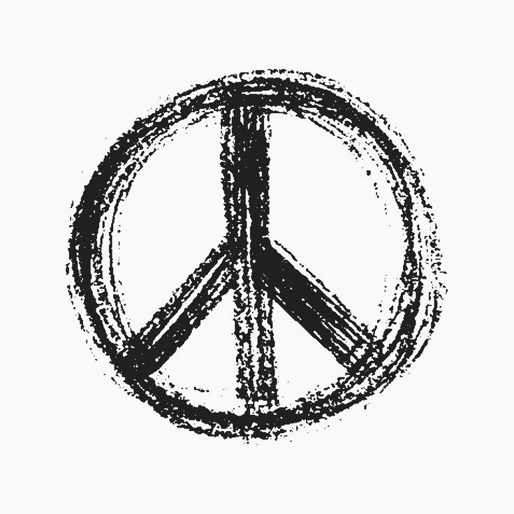 Drawn peace sign peaceful Peace 25+ Cool tattoos sign