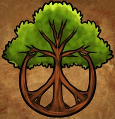 Drawn peace sign peaceful American tree how Art Hippie