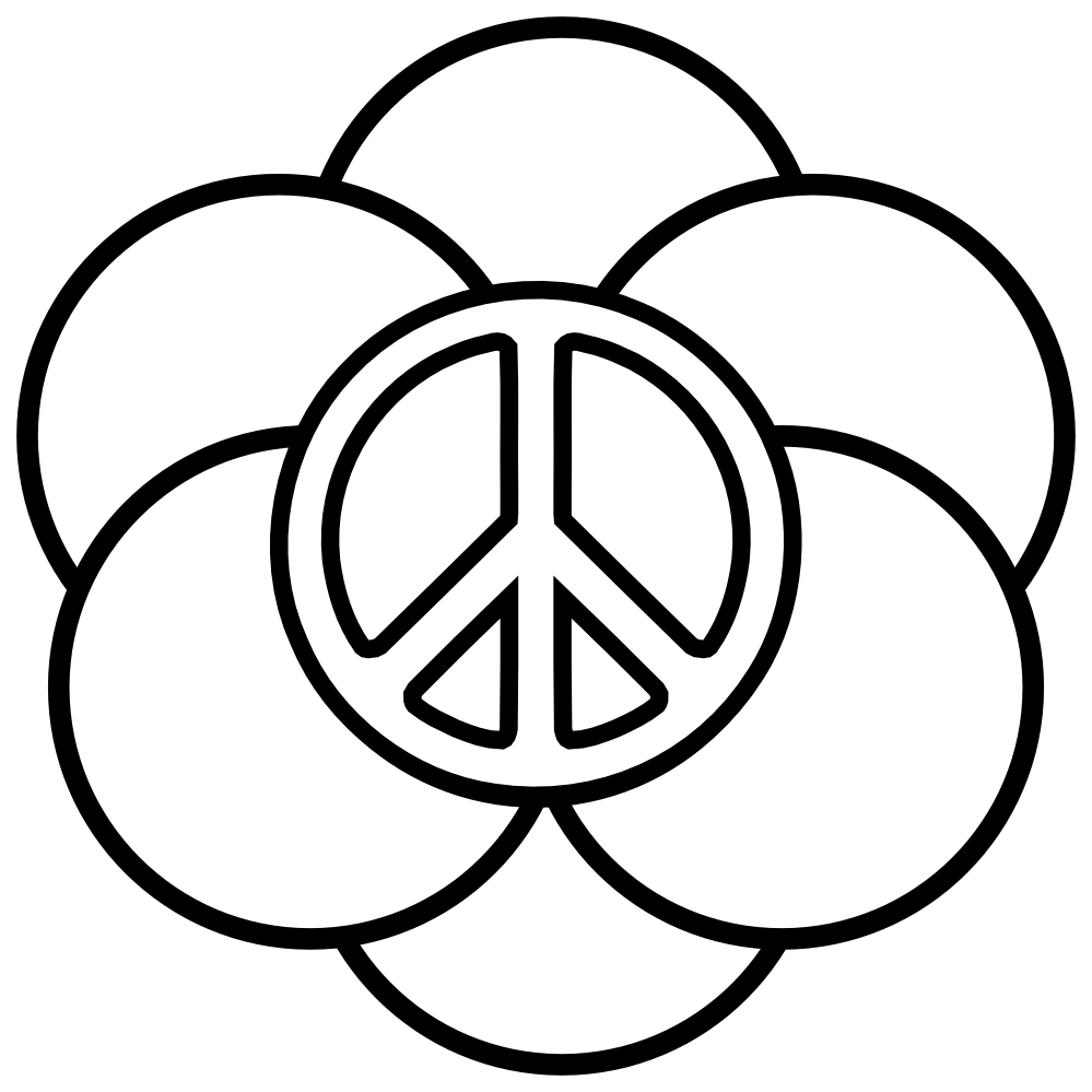 Drawn peace sign pease Of Peace sign Pages Signs