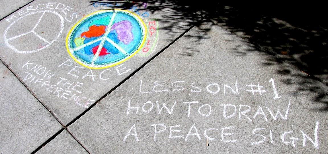 Drawn peace sign pease 1: 4 P Symbol Proper