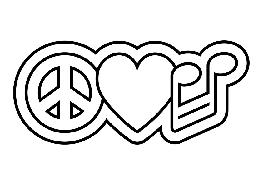 Drawn peace sign pease Coloring Pages Peace Sign Psychedelic