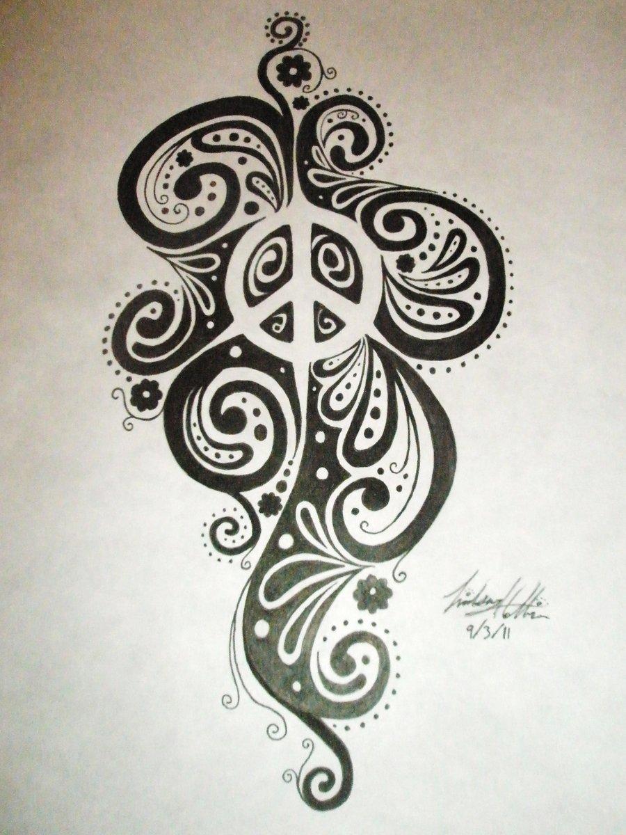 Drawn peace sign pease Design LinsCatMeow deviantart on deviantart