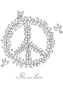 Drawn peace sign pece Rainbows past Symbol Dove Signs