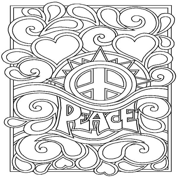 Drawn peace sign printable Peace Printable Coloring Coloring Enjoy