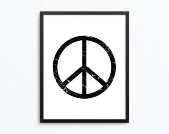 Drawn peace sign printable Sign Peace Print Peace Peace