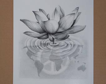 Drawn peace sign printable Lotus World Black Print sign