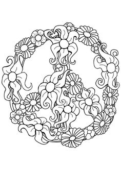Drawn peace sign printable Coloring Attractive  Attractive Pages