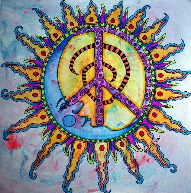 Drawn peace sign psychedelic ✪☯☮ॐ about 285 Sign images