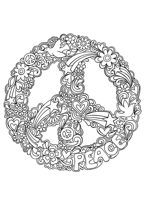 Drawn peace sign psychedelic Andrew Free Drawing Sign Drawing