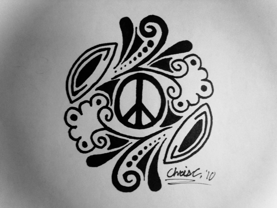 Drawn peace sign psychedelic Peace on Design Peace TickleMeHoHo