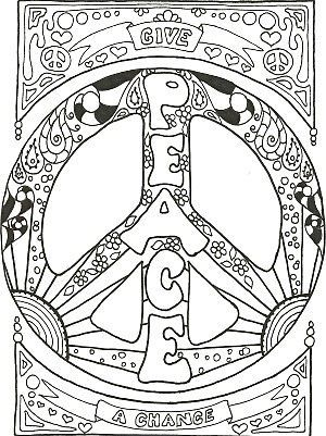 Drawn peace sign psychedelic Pinterest Psychedelic Mandalas Zentangles best