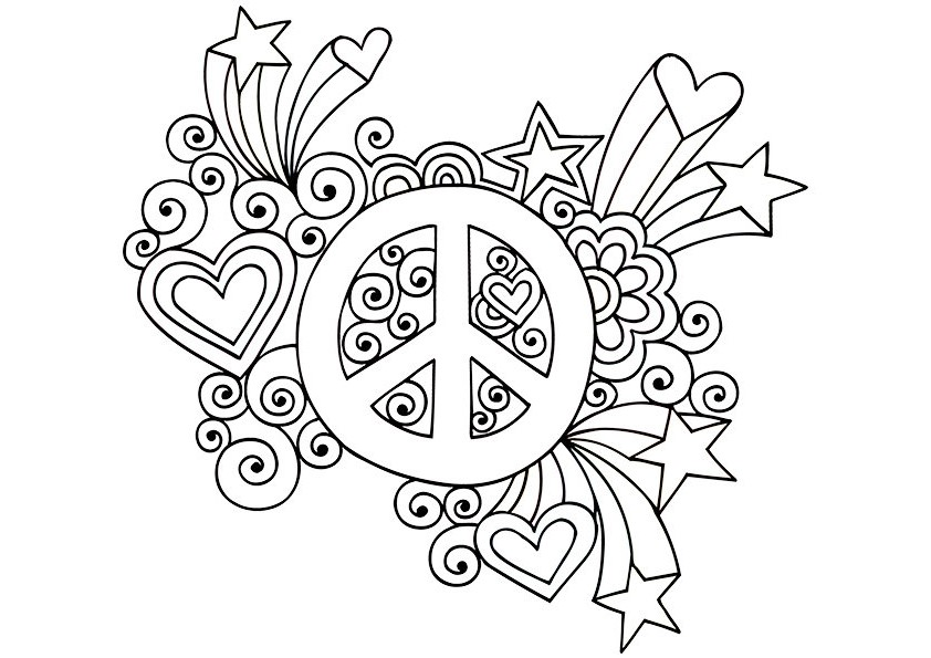 Drawn peace sign psychedelic Psychedelic Sign Peace Peace Sheets