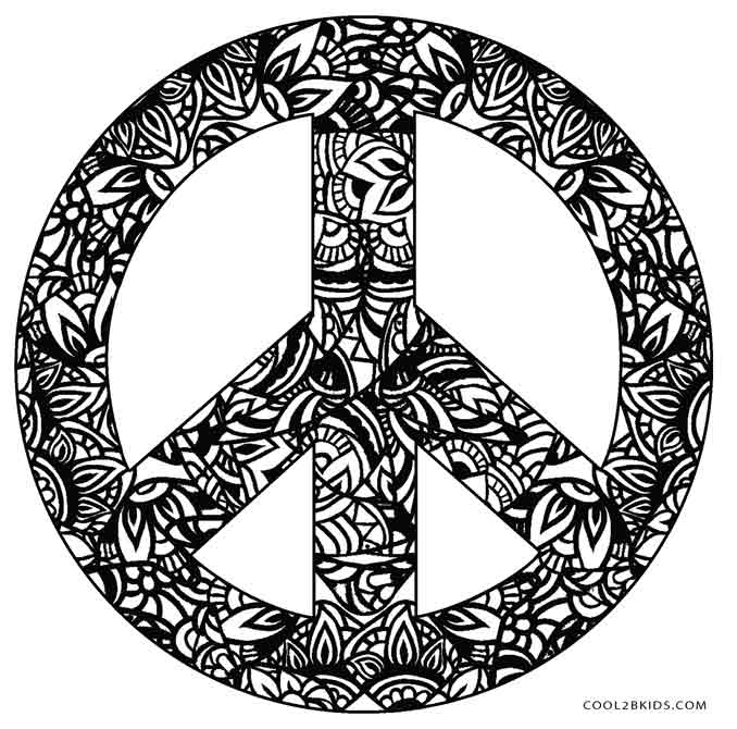 Drawn peace sign psychedelic Psychedelic Pages Peace Printable Free