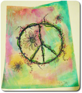 Drawn peace sign roman $50 10% or Card OFF