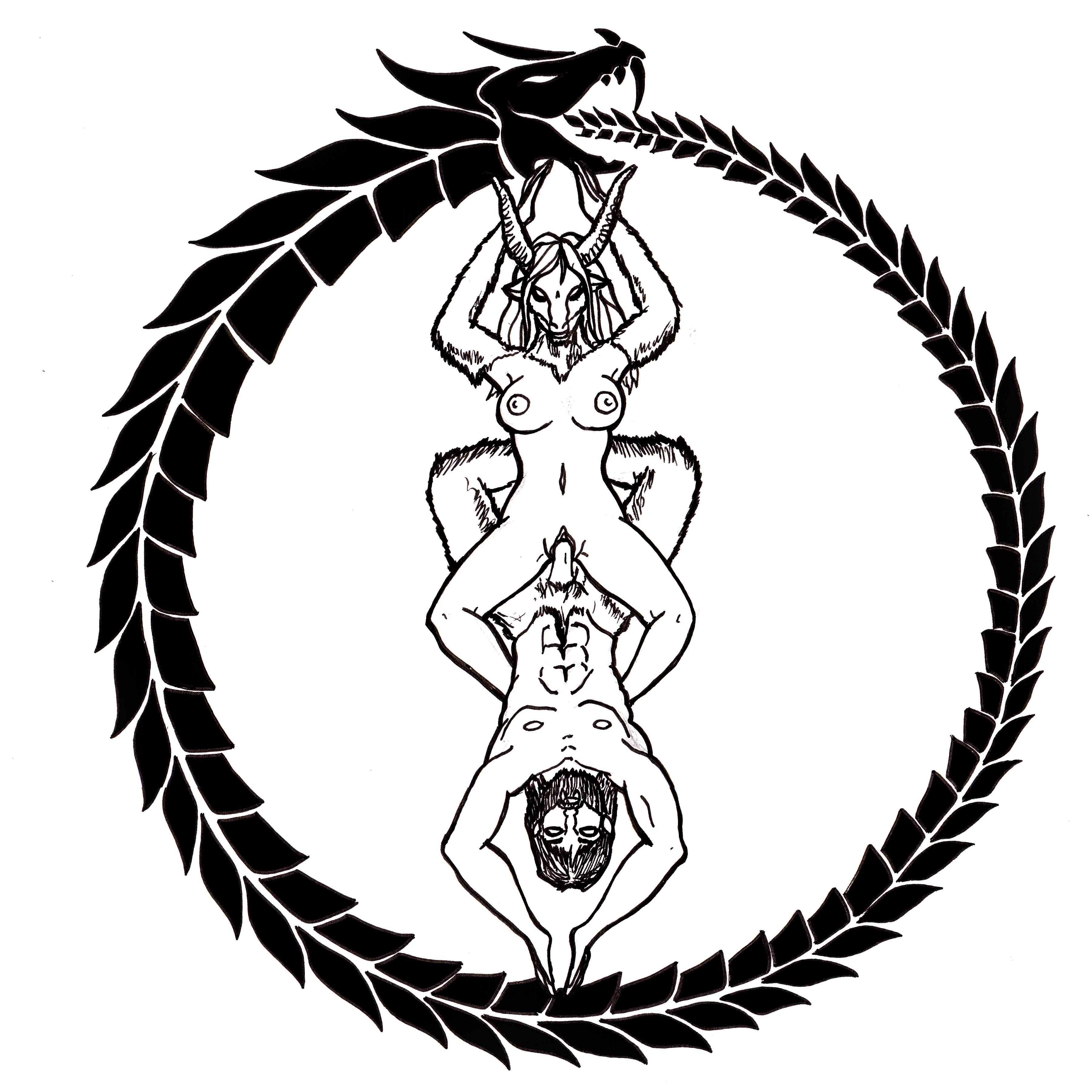 Drawn sykol demonic Google Satanic Symbols Pinterest Search