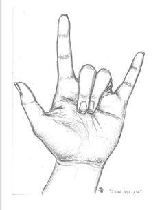Drawn peace sign sign language Language! I PiperHamlinCreations Language by