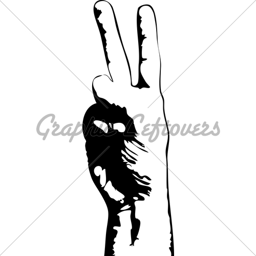 Peace Sign clipart hand drawing Images · Stock Fingers Drawn