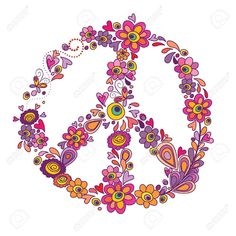 Drawn peace sign sketch Flower com  Pin for